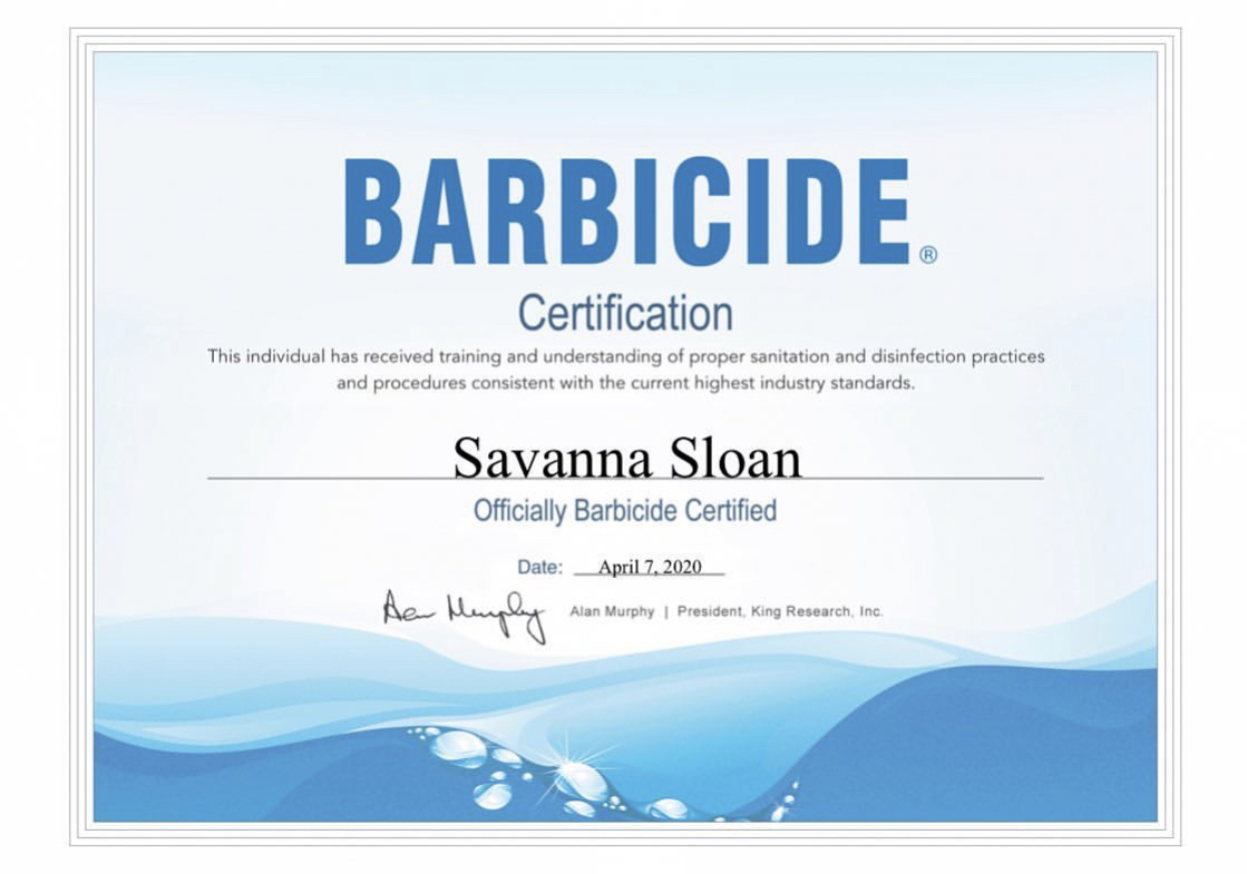 Photo3 -SavannaSloan certificate