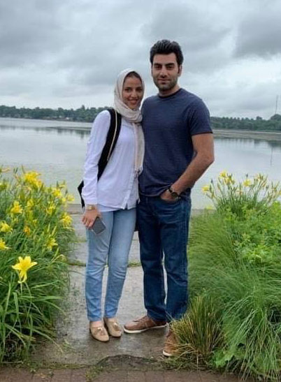Durham Continuing Education students Ahmad and Nour Safaf, shortly after they arrived in Canada from Syria.