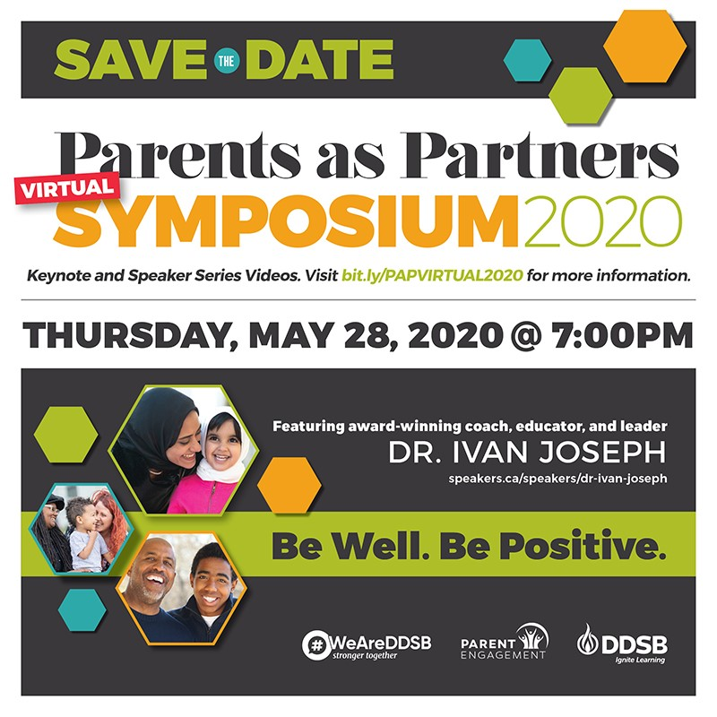 Parents as Partners VIRTUAL SYMPOSIUM 2020 SAVE THE DATE square