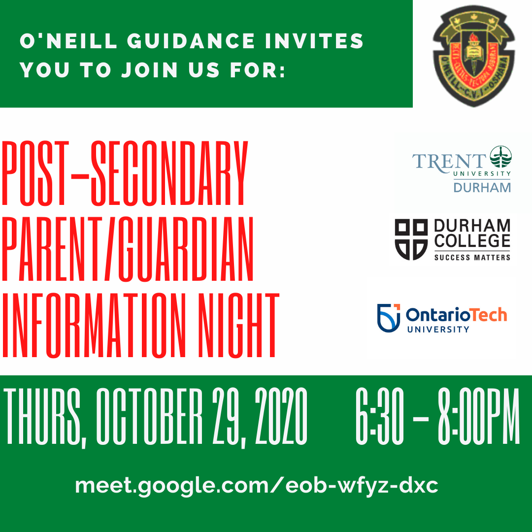 Post-secondary Parent_Guardian Info Night