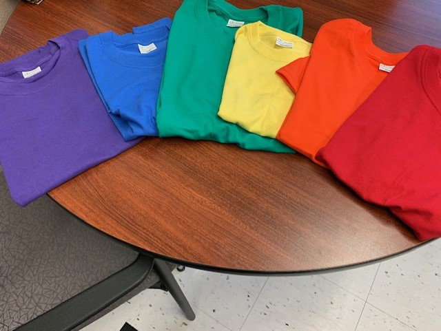 Spirit Wear Shirt Colours