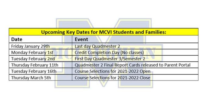 Upcoming dates